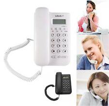 Wall Corded Phone Button Landline Caller ID Desktop Telephone Home Hotel Office