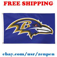 Deluxe Baltimore Ravens Team Logo Flag Banner 3x5 ft NFL Football 2019 NEW