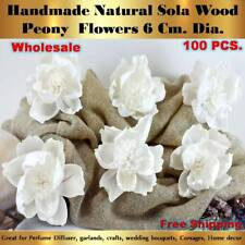 100 Handmade Peony Sola Flowers Diffuser Craft Wedding Bouquet Natural Decor 2
