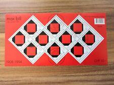 Schweiz, Kleinbogen/mini sheet Max Bill, Rotes Quadrat 1946, Ersttag / FD