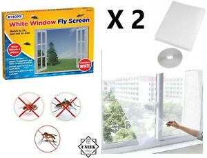 2 x White Net Curtain Insect Mosquito Window Screen Mesh Fly Bug Moth RY0717 UK