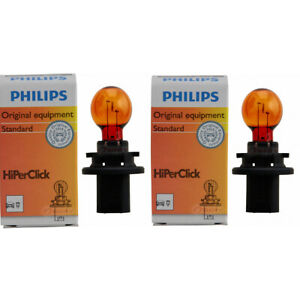 2 pc Philips Rear Turn Signal Light Bulbs for Lincoln MKZ 2010-2012 ag