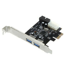 2-Port USB 3.0 PCI-E 19-pin USB3.0 4-pin IDE Connector Low Profile HY