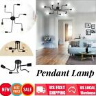 Industrial Vintage Semi Flush Mount Ceiling Light Pendant Lamp Steampunk Fixture