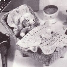 1950's LITTLE PUPPY & BED / 4ply. - COPY toy knitting pattern