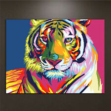 DIY Acrylic Paint By Number Kit Tiger Oil Painting Drawing On Canvas Home Decor