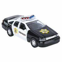 RI Novelty - Pull Back Die-Cast Metal Vehicle - POLICE CAR (Black)(4.5 inch) New