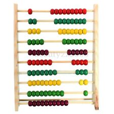 10 Row Wooden Abacus 100 Beads Counting Number Kid Math Learning Teaching Toy