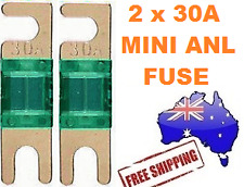 2 x 30AMP Mini ANL Fuse for Car Amplifier Wiring Kit Fuse Holders 30A - Midi AFC
