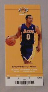 Los Angeles Lakers Vs Kings unused Ticket 11/11/12 Kobe Bryant 20 points