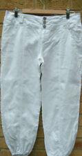 Linen Regular Low Capri, Cropped Trousers for Women