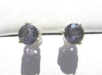 Iolith Wassersaphir. Ohrstecker 6 mm 925 Silber E7057 Iolite earrings