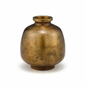 Nousaku Vase flower Mitsubo Golden brown [brass] 505051 Japan