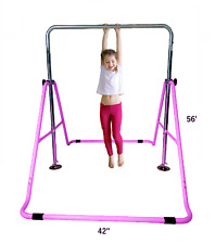 "Kids Jungle gym 52"" Horizontal Monkey Bar Bars Gymnastics Balance Tower Purple"