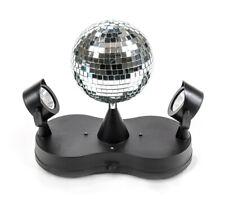 Spiegelkugel Discokugel Partybeleuchtung  2 Spots LED Discolampe Lichteffekt NEU