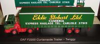 EDDIE STOBART LTD  - DAF F2200 CURTAINSIDE TRUCK -  TWIGGY   -   1:76  -  BOXED