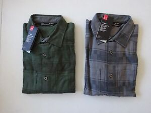 Under Armour Men's Borderland Flannel Long Sleeve Button Up Shirt NWT!!!