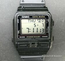 1987 Vintage CASIO DBA-80 (555) Phone Dialer Japan M 32mm watch - New Battery