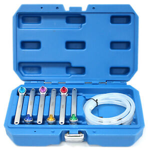 7pc Brake Clutch Oil Bleeder Bleed Wrench Set 12 Point Socket 7 - 12mm w/ Valve