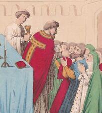 Communion Eucharistie Hostie christianisme XIIe siècle