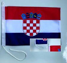 Kroatien Bootsfahne Bootsflagge Fahne Schiffsfahne Flagge  45x30cm NEU