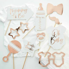 Ginger Ray Rose Gold Unisex Baby Shower Photo Booth Props