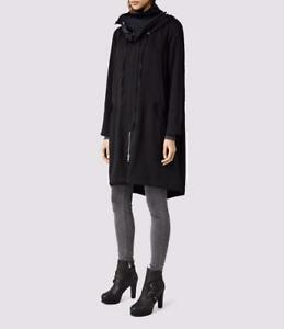 All Saints Kaito Parka/Coat With Hood in Black Size UK 6 BNWT £258