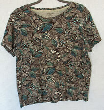 St. Johns Bay 100% Cotton Cap Sleeve Top Size XL