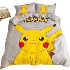 Pokemon Pikachu Queen Bed Quilt Cover Set