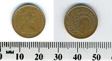 New Zealand 1976 - 1 Cent Bronze Coin -Queen Elizabeth II - silver fern leaf