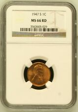1947 S Lincoln Cent NGC MS 66 RD