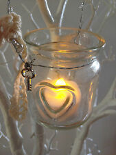 Small Glass Jar Hanging T-Lite Holders