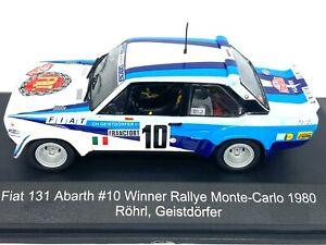 1:43 Scale CMR Replicars Fiat 131 Abarth Rally Car - W Rohrl 1980 Diecast Model