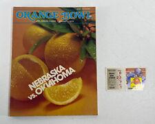 1979 Orange Bowl Football Program w/ Ticket Stub Nebraska vs Oklahoma Vintage