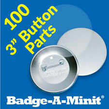 "Badge-A-Minit 100 - 3"" Pin-Back Button Sets #3711 New!"