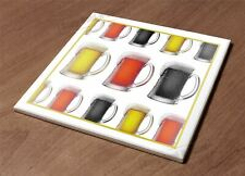 Ceramic Hot Plate kitchen Trivet Holder mix beer color strong man decor gift