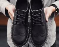 MEN Brogue Lace Up British Style Oxfords Wedding Business Casuals Dress Shoes