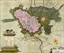 Reproduction plan ancien - Lille vers 1700