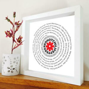 Red Hot Chili Peppers - Scar Tissue - framed song lyrics - any song - Birthday