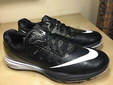 NEW Nike Lunar Control 4 Men's Golf Shoes Black White Size 9W 819036-001 NWOB