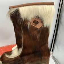 Vintage Lotto Goat Fur Yeti Boots Shearling Women's Size 6 original box Rare