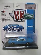 `68 Mercury Cougar R-Code  Blue-metallic 1968 *** M2 Machines 1:64 OVP