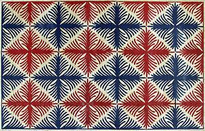 Modern Element Pattern Red Blue Vibrant Carpet Marble Mosaic CR516