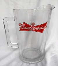 Budweiser Heavy Four Pint Glass Jug - Crown Mark and Measure - NEW ITEM