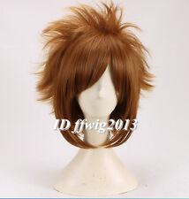 KINGDOM HEARTS II Sora Short Brown Heat Resistant Anime Cosplay Wig