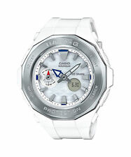 Casio Women's Watch. Quartz. Sparkle. Bling. Ivory Rubber Wristband. Stainless S