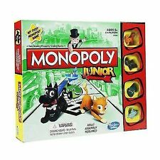 Monopoly Hasbro Junior Board Game A6984 Complete With Instructions Boys Girls