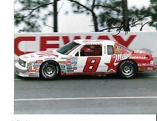 Autographed Bobby Hillin NASCAR Auto Racing Photograph