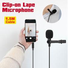 Mini Lavalier Lapel Microphone Recording Clip On Mic for Smartphone DSLR Camera