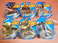 Hot Wheels Yoda, Luke Skywalker, R2 D2, Darth Vader, Chewbacca, Tusken Raider